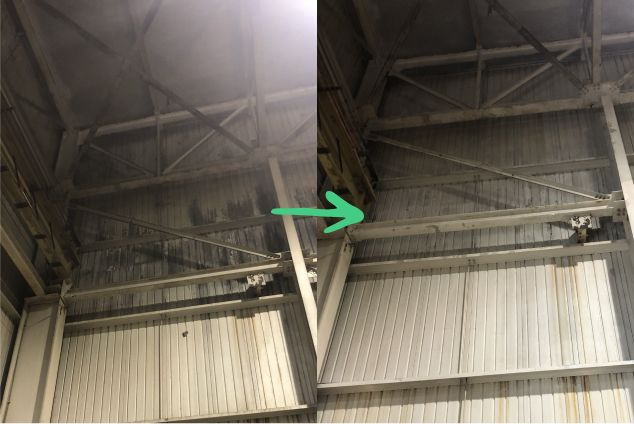 Second exemple of a chemical / mechanical cleaning